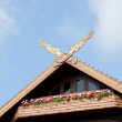 Roof of Doi tung palace, chiang rai thailand — Stock fotografie