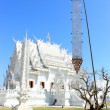 White Temple Wat rong khun Chiangrai Thailand - Stock Photo
