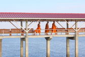 Monks crossing — Stock Photo