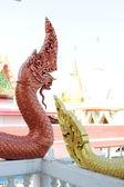 Тайский дракон или царя Нага статуи — Стоковое фото