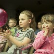 Fashion kids show in Minsk, Belarus - Stock Photo