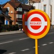 London bus stop sign — Stock Photo