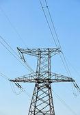 Высоковольтные линии электропередач — Стоковое фото