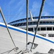 Mooring rope and cruise ship — Stock Photo