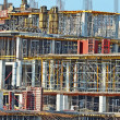 Construction site detail with scaffolding — Stock Photo