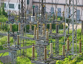 AC substation high voltage — Stock Photo