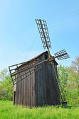 Antique wooden windmill — Stock Photo