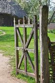 Wzór bramy obszarów wiejskich — Zdjęcie stockowe