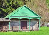 Ancient wooden barn — Stock Photo