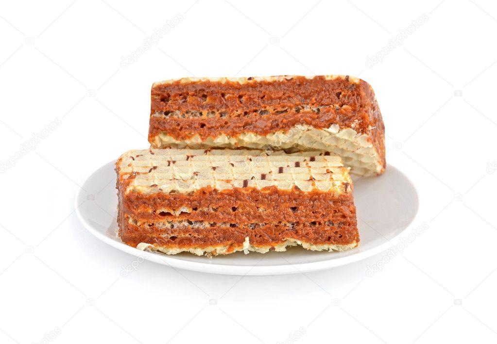 Вафельный торт со сгущенкой не вареной