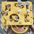 Foto Stock: Inside clock (clockworks)
