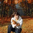 Stock Photo: Autumn woman