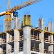 Сoncrete formwork and crane — Stock Photo