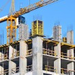 Сoncrete formwork and crane - Stockfoto