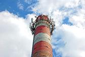 Transceiver on chimney — Stock Photo
