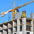 Сoncrete formwork and crane — Stock Photo #9776658