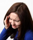 Güçlü baş ağrısı — Stok fotoğraf