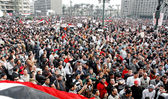 25 January Revolution Events in Egypt — Stock Photo
