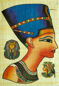Egyptian Papyrus Painting — Stock Photo