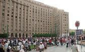 Poprawianie drogą rewolucji. wrzesień 9, 2011 — Zdjęcie stockowe
