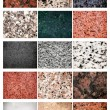 Collage Granite and Marble — Stock Photo