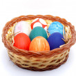 Easter Eggs In a Plastic Plate 03 — Stock Photo