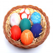 Easter Eggs In a Plastic Plate 02 — Stock Photo