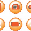 Icons of various objects — Stock Vector