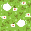 Royalty-Free Stock Vector Image: Green tea leaves
