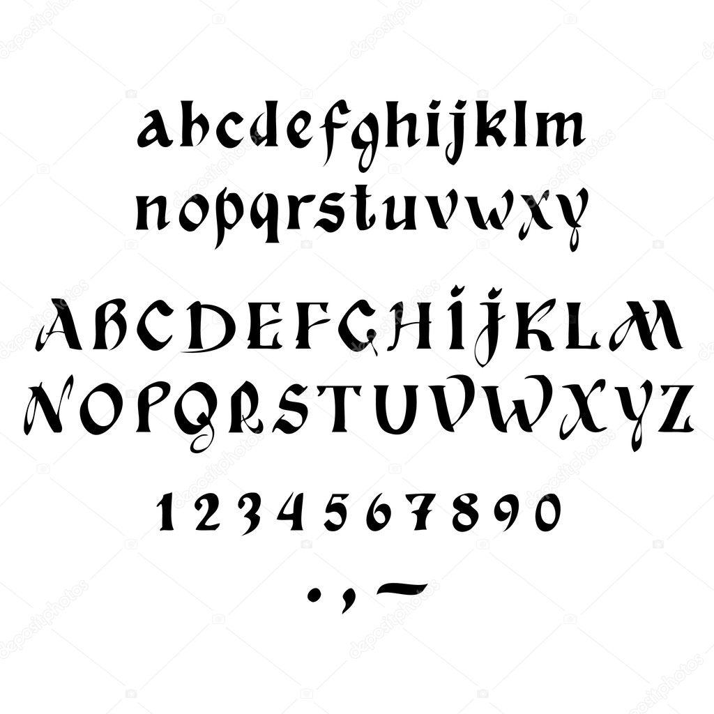 Kalligraphie — Stockvektor © Rud-Volha #8957329