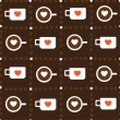 Stock Vector: Cups of coffee