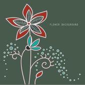 Blumenhintergrund — Stockvektor
