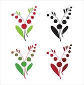 Kırmızı meyveler — Stok Vektör