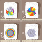 Automatic washing processes — Stock Vector