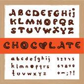 čokoládová — Stock vektor