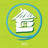 Casa ecológica — Vector de stock