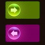 Colored glassy button. — Stock Vector
