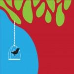 Vector bird and tree — Stock Vector #9807548