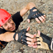 Stock Photo: Climber Lending Helping Hand