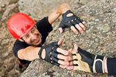 Climber Lending Helping Hand — Stock Photo