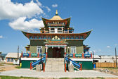 Building exterior of Buddhist monastery — Стоковое фото
