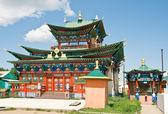Na zewnątrz budynku klasztoru buddyjskiego — Zdjęcie stockowe