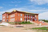 Building of Buddhist monastery — Foto Stock