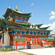 Building exterior of Buddhist monastery - Stock Photo