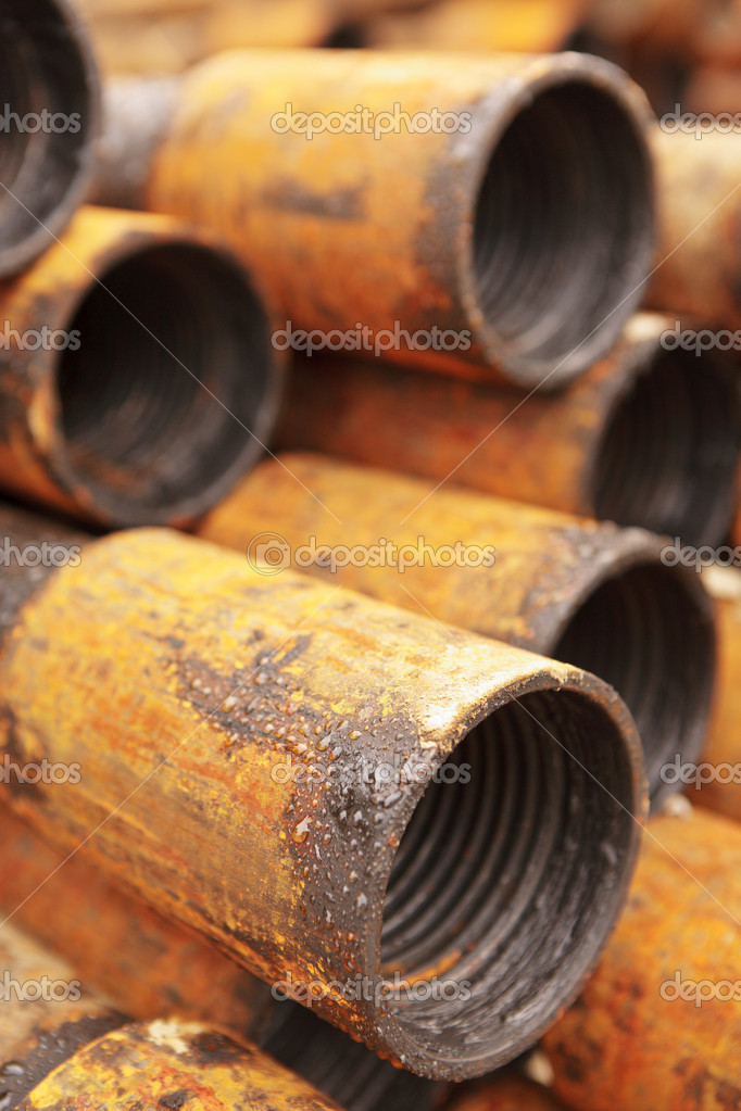 Good background from rusty pipes in outdoor  Stock Photo #9693799