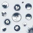 Eco labels collection - Stock Vector