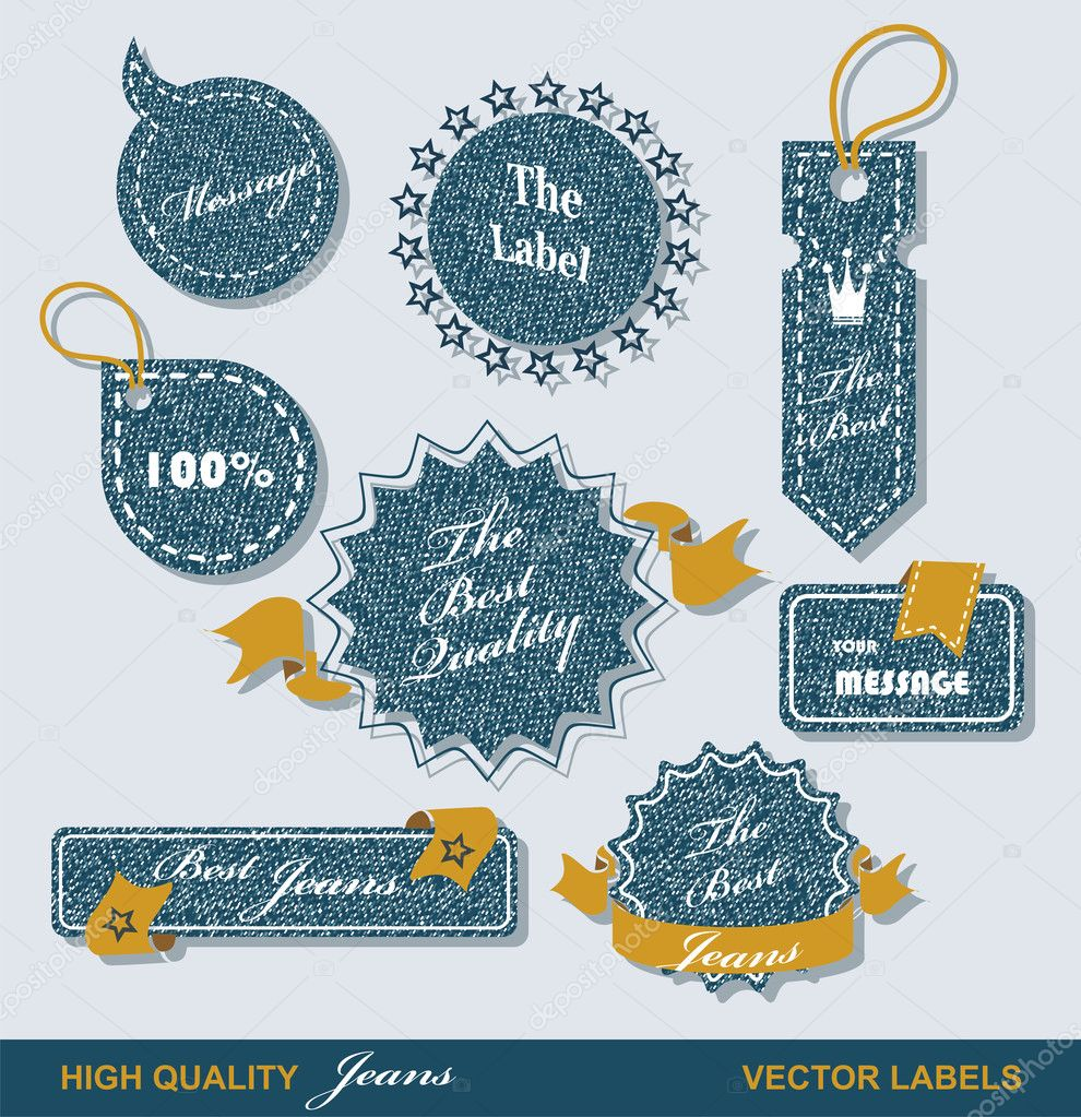 Vintage Styled Premium Quality  Labels and Ribbons collection with black grungy design. — Stock Vector #10198933