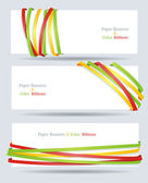 Ribbon and banner collection. Vector bookmarks. — Stock Vector