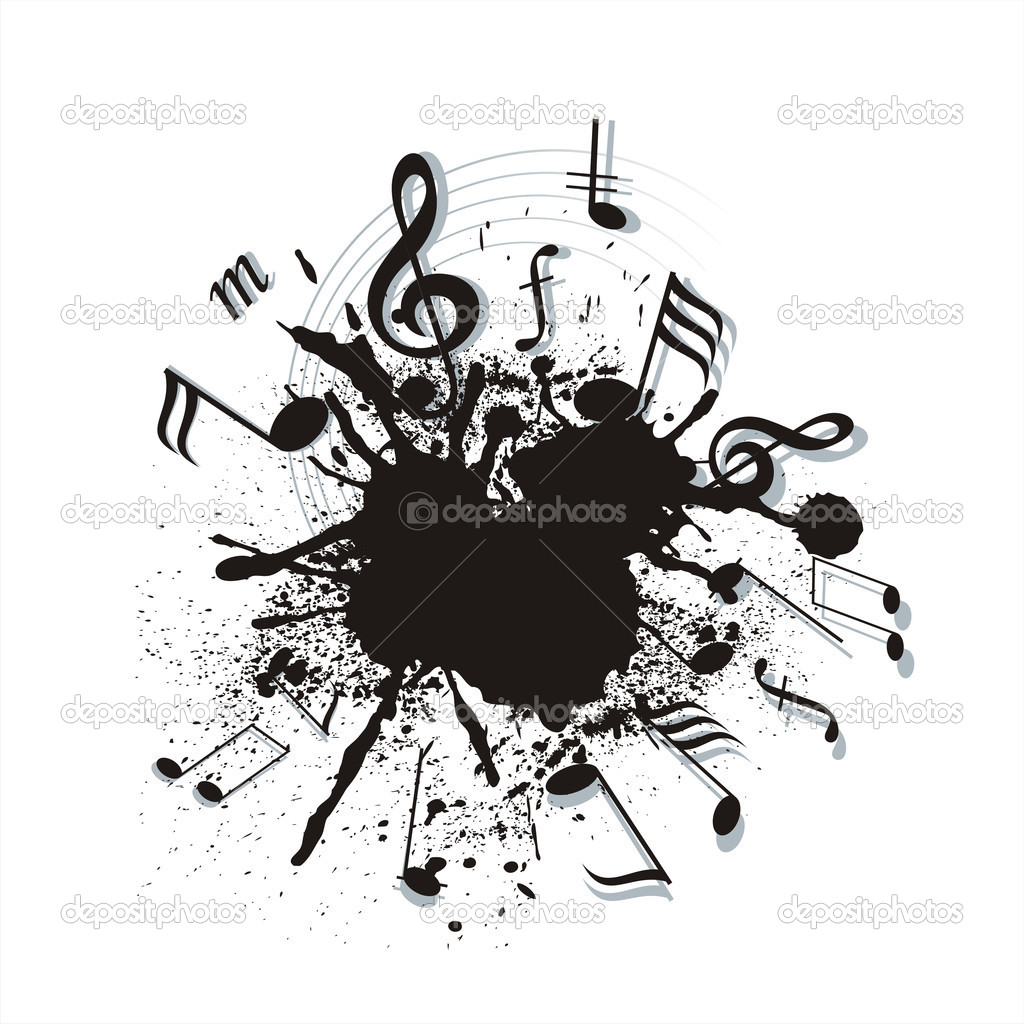 Music notes twisted into a spiral — Stock Vector #10431246