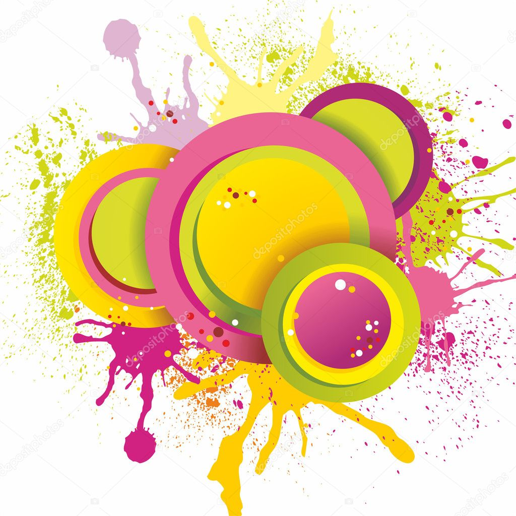 Colorful abstract splash design,vector illustration — Vettoriali Stock  #10537770